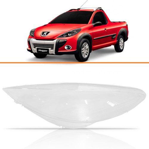 Lente Farol Peugeot Hoggar 2009 10 11 12 13 2014 Direito  - Kaçula Auto Peças