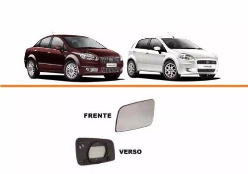 Lente Retrovisor Punto / Linea / Fiat 500 Lado Direito  - Kaçula Auto Peças