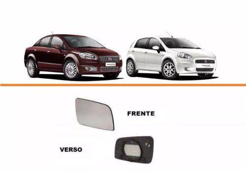 Lente Retrovisor Punto / Linea / Fiat 500 Lado Esquerdo  - Kaçula Auto Peças