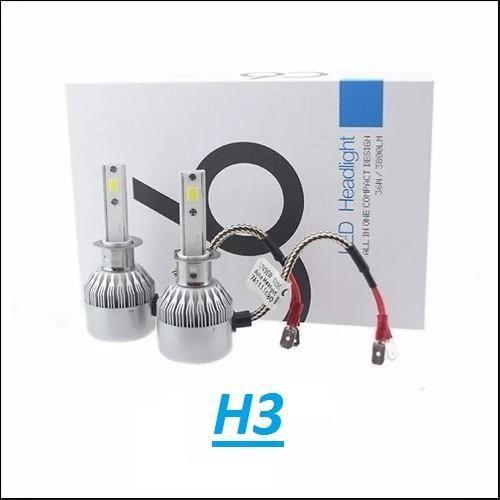 Par Super Lâmpada Led H3 72w Super Br  - Kaçula Auto Peças