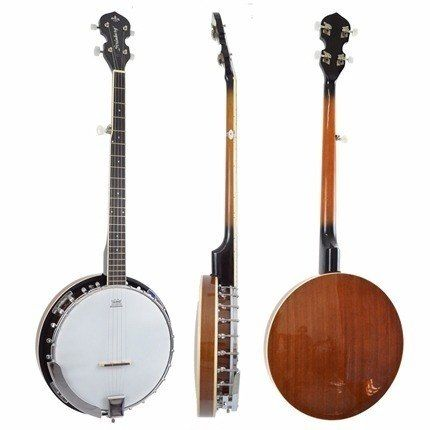 Banjo Americano 5 Cordas Strinberg Wb50 Mahogany