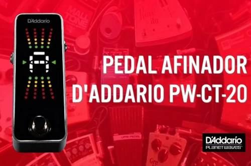 Pedal Afinador D'addario Planet Waves Cromatico Pw-ct-20