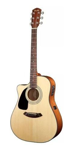 Violão Fender CD-100 CE LH 096 1531 Folk Canhoto Natural Fosco