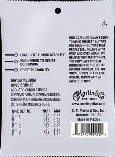 Encordoamento Martin 013 Violão Aço Bronze 80/20 .013-.056