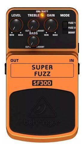 Pedal Super Fuzz Behringer Sf300 Guitarra Violão Baixo