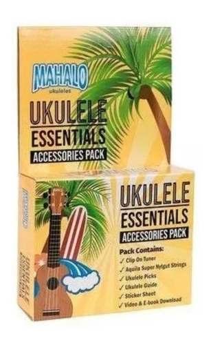 Kit Acessórios Para Ukulele Mahalo Mzk1 (Cordas Aquila, Video Aula E Ebooks, Afinador e Palhetas)