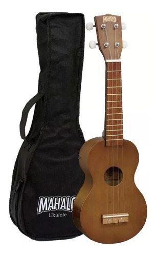 Ukulele Soprano Mahalo Mk1tbr Natural Com Capa Bag