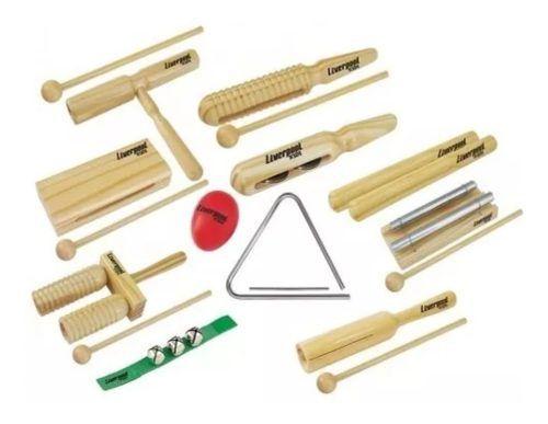 Kit Instrumentos Percussão Bandinha Liverpool Infantil 11