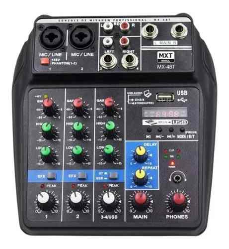 Mesa De Som Mxt Mx4BT - Bluetooth, Efeito e Gravação