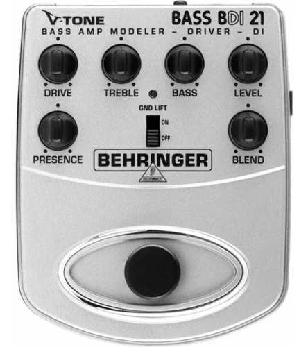 Pedal Behringer V-tone Bdi 21 P/ Baixo Bdi21