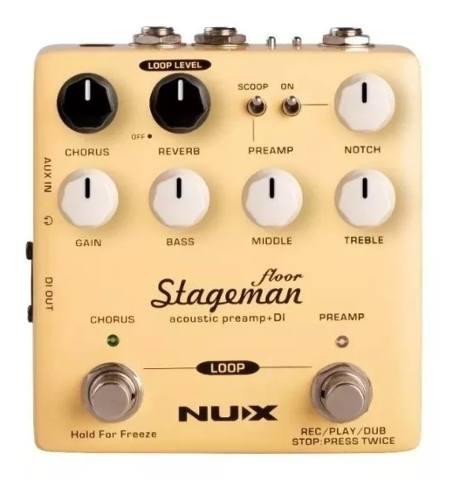 Pedal De Efeito Nux para Violão Stageman Floor
