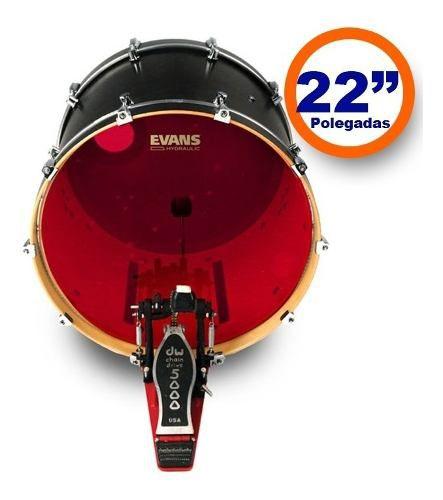 Pele Bumbo 22 Evans BD22HR Red Hidraulica Vermelha