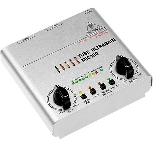 Pré Ampli Valvulado P/ Microfone Condensado Mic100 Behringer