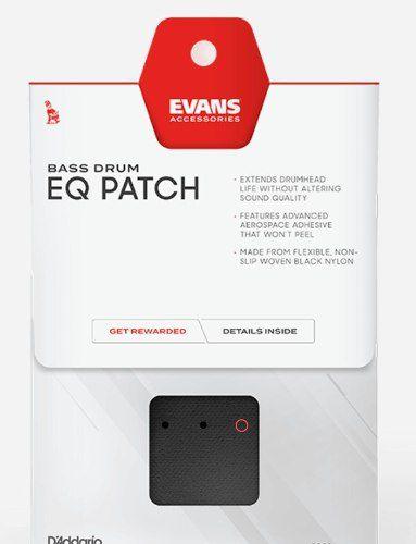 Kit 2 Pads Protetor Bumbo Evans Eqpb1 Feltrado Pedal Simples