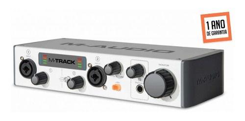 Interface M-Audio para gravação USB MTRACKII