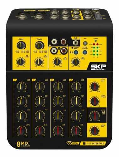 Mesa De Som 8 Canais Com Interface Skp Mix Connect 8 Bivolt