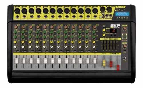 Mesa Amplificada Skp Vz 120 Ii 12 Canais Mp3 Usb 500w