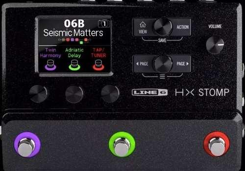 Pedaleira Multi-efeitos para Guitarra Line 6 Hx Stomp