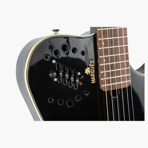 Violão Flat Marques Nylon Eletrico Vn12 Preto