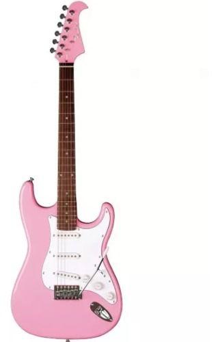 Guitarra Eagle Sts-001 Sr Stratocaster Rosa