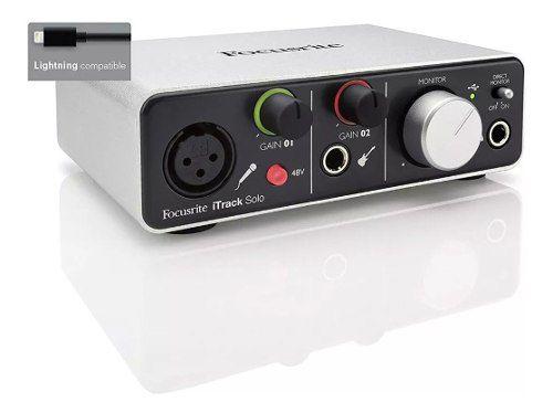 Interface Focusrite Audio Itrack Solo com Entrada Lightning