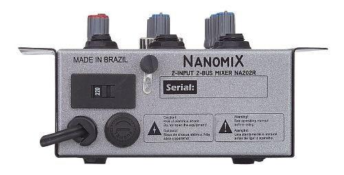 Mesa Som L L Áudio Nanomix Na 202r 2 Canais
