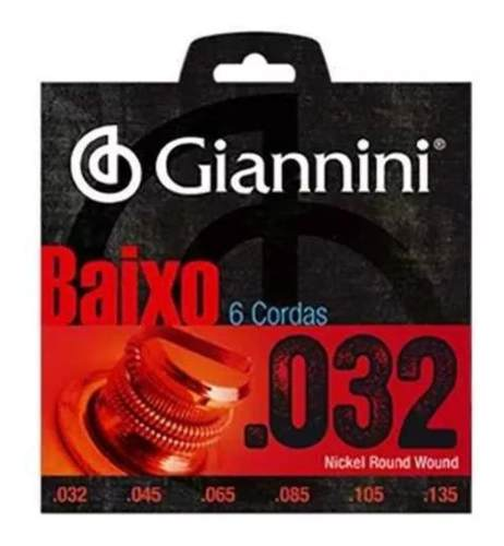 Encordoamento Para Baixo Giannini 6 Cordas 032 - GEEBRS6