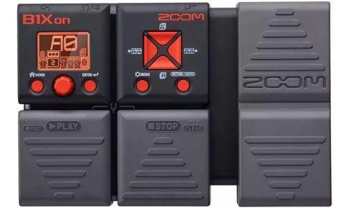 Pedaleira Zoom B1xon com Modulo De Efeitos Baixo E Expressão