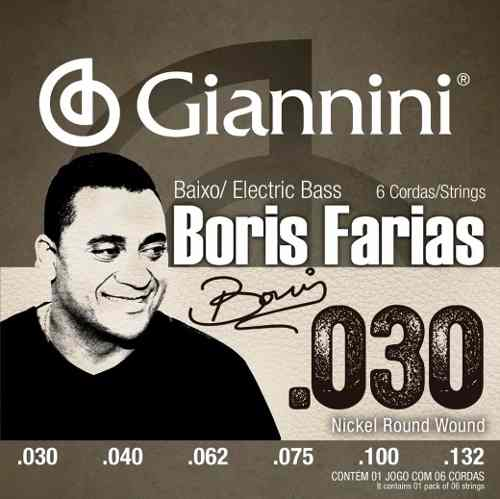 Encordoamento De Contrabaixo 6 Cordas Boris Farias Giannini