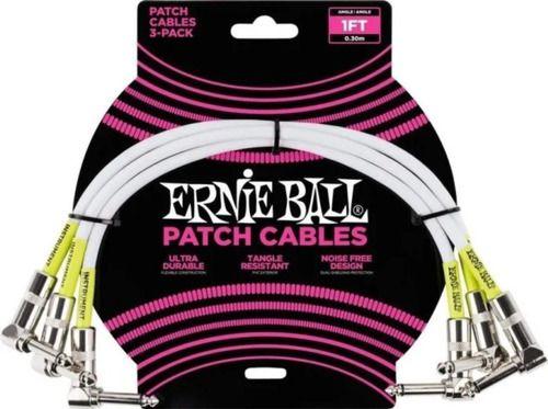 Cabos para Pedal Ernie Ball P06052 Kit c/3 1Ft