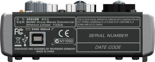 Mesa De Som Xenyx 302 Usb Mixer Bivolt - Behringer