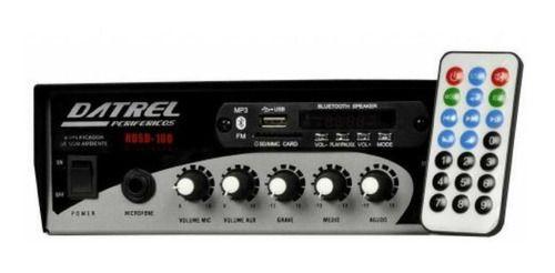 Amplificador Receiver Som Ambiente 100w Rms Usb/fm/bluetooth