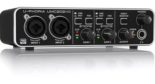 Interface De Audio Umc 202hd  Usb Behringer U-phoria Pré Midas