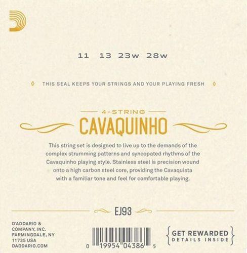 Encordoamento D'addario Para Cavaquinho Ej93