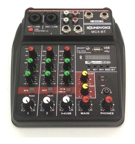 Mesa De Som Com Interface De Áudio Usb E Bluetooth Mc4-bt