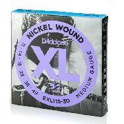 Jogo 3 Encordoamento Cordas Guitarra 011 Daddario Exl115 3d