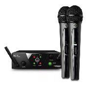 Microfone Akg Wms40 Duplo Sem Fio Pro Mini Dual Vocal