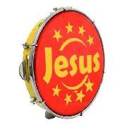 Pandeiro Luen Jesus Aro Abs Vermelho e Amarelo
