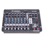 Mesa De Som Mixer Starmix Ll Audio Usfx802r Bt