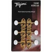 Tarraxa Violão Nylon Blindada Dourada Tmh-831-Gd Tagima