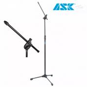 Pedestal Suporte Microfone Profissional Ask Tps + Cachimbo