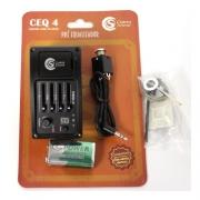 Captador De Violão Custom Sound Ceq-4 Afinador E Equalizador