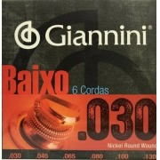 Encordoamento Contrabaixo 6 Cordas Giannini .030 - Geebrlx6