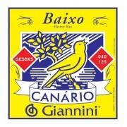 Encordoamento Giannini Canário Gesbx5 Contra Baixo 5 Cordas