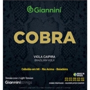 Encordoamento Giannini Cobra Tensão Leve Viola Caipira