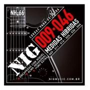 Encordoamento Híbrida Nig Nh-66 Guitarra 009-046