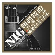 Encordoamento Nig Guitarra 010 Flat Ngf-810 (lisa)