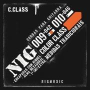 Encordoamento Nig N1632 Color Class Laranja 009 de Guitarra