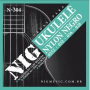 Encordoamento Nig N304 Ukulele Soprano Nylon Preto