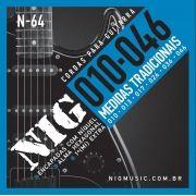 Encordoamento Nig N64 010-046 Níquel Para Guitarra